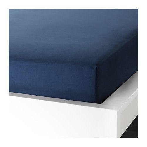 Ullvide Drap Housse Bleu Fonce 90x200 Cm Drap Housse Drap Draps Bleu