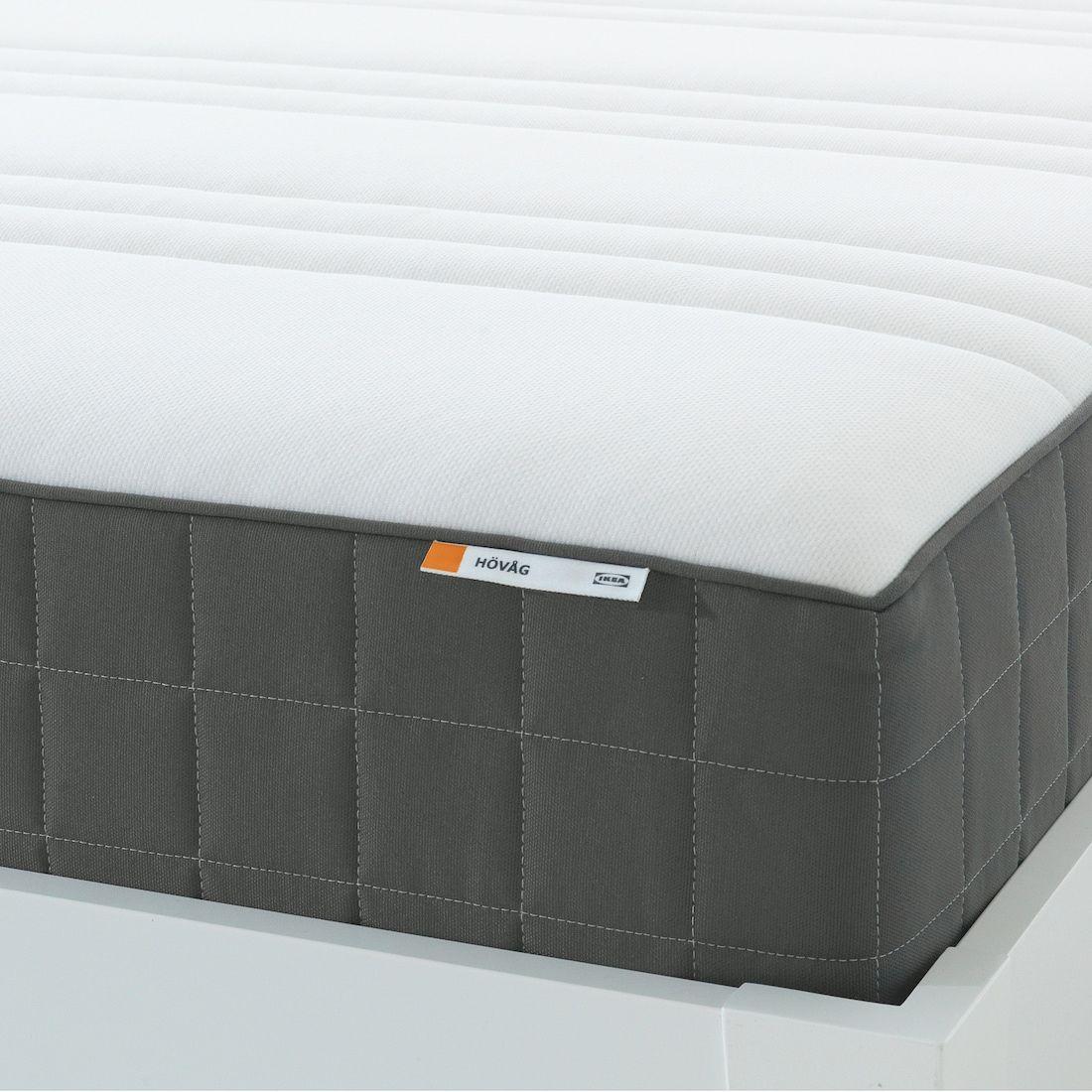 Hovag Pocket Sprung Mattress Extra Firm Dark Grey Ikea In 2020 Pocket Spring Mattress Ikea Ikea Mattress