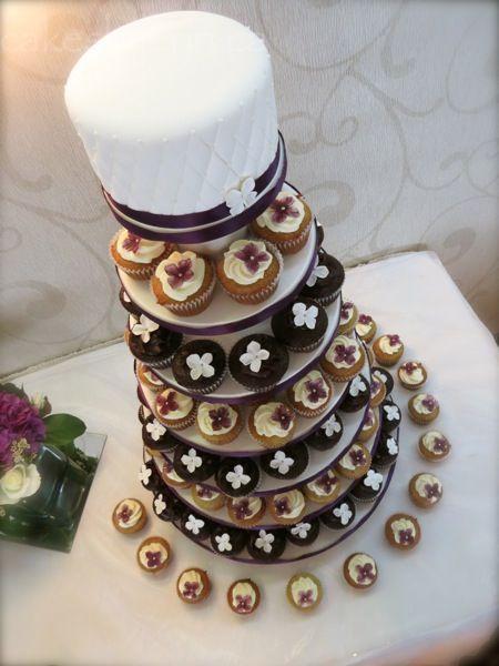 Hydrangea Wedding Cupcake Tower - Cakes by Erin