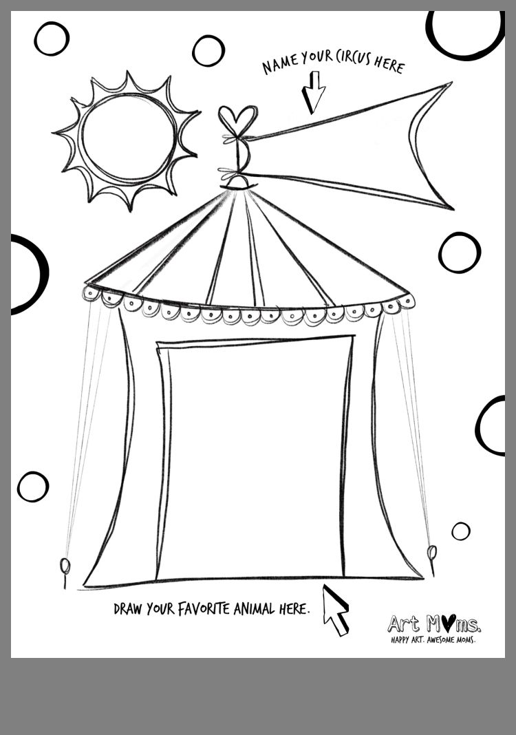 Pin By Rochelle On Circus Party Happy Art Mom Art Circus Party [ 1068 x 750 Pixel ]