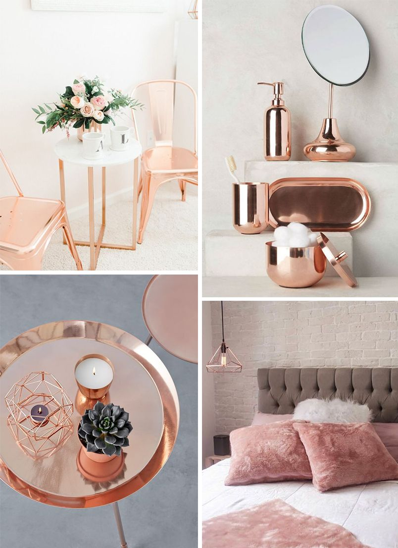 decora o rose gold deco pinterest ros gold deko dekoration et wohnklamotte. Black Bedroom Furniture Sets. Home Design Ideas