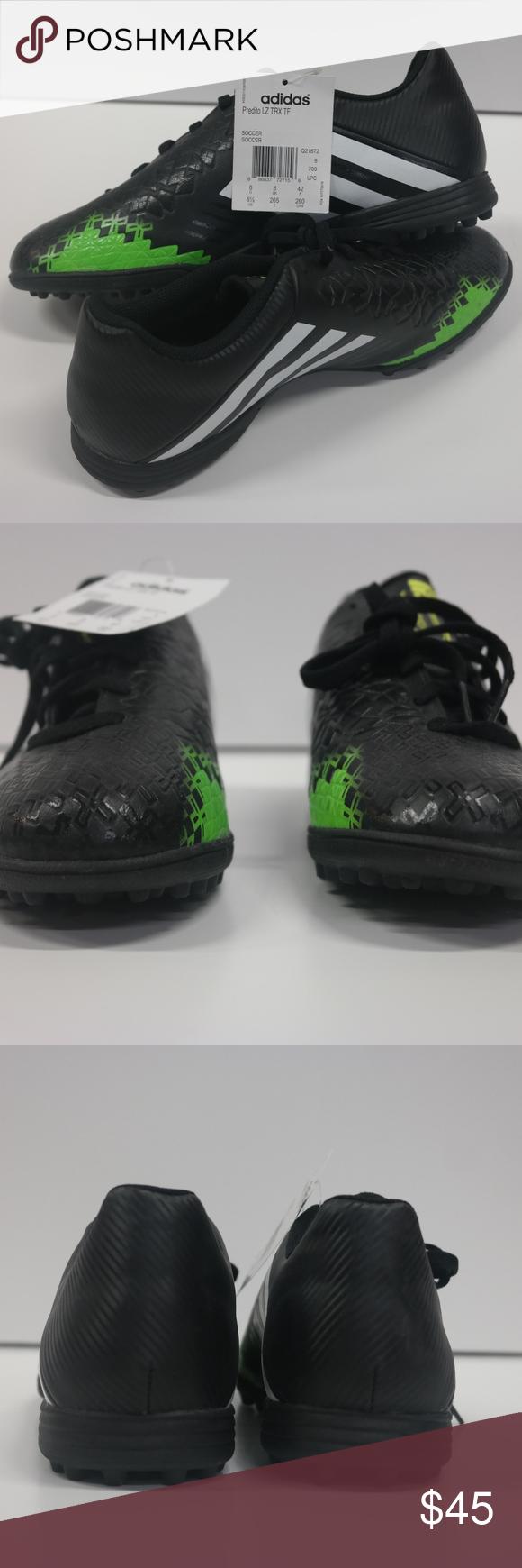 NWT Adidas predito LZ TRX TF negro Turf cleats Pinterest