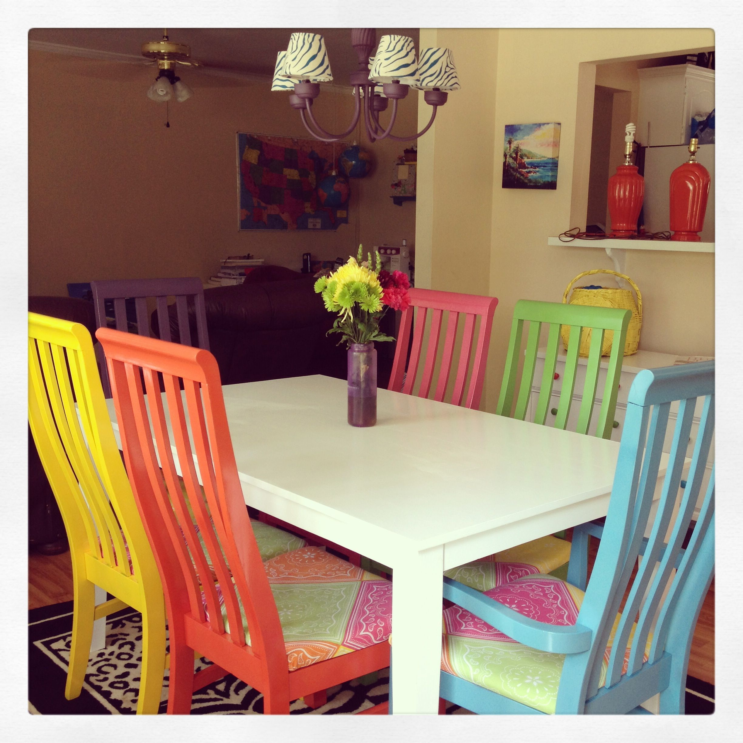 Upcycled Goodwill Table And Chairs