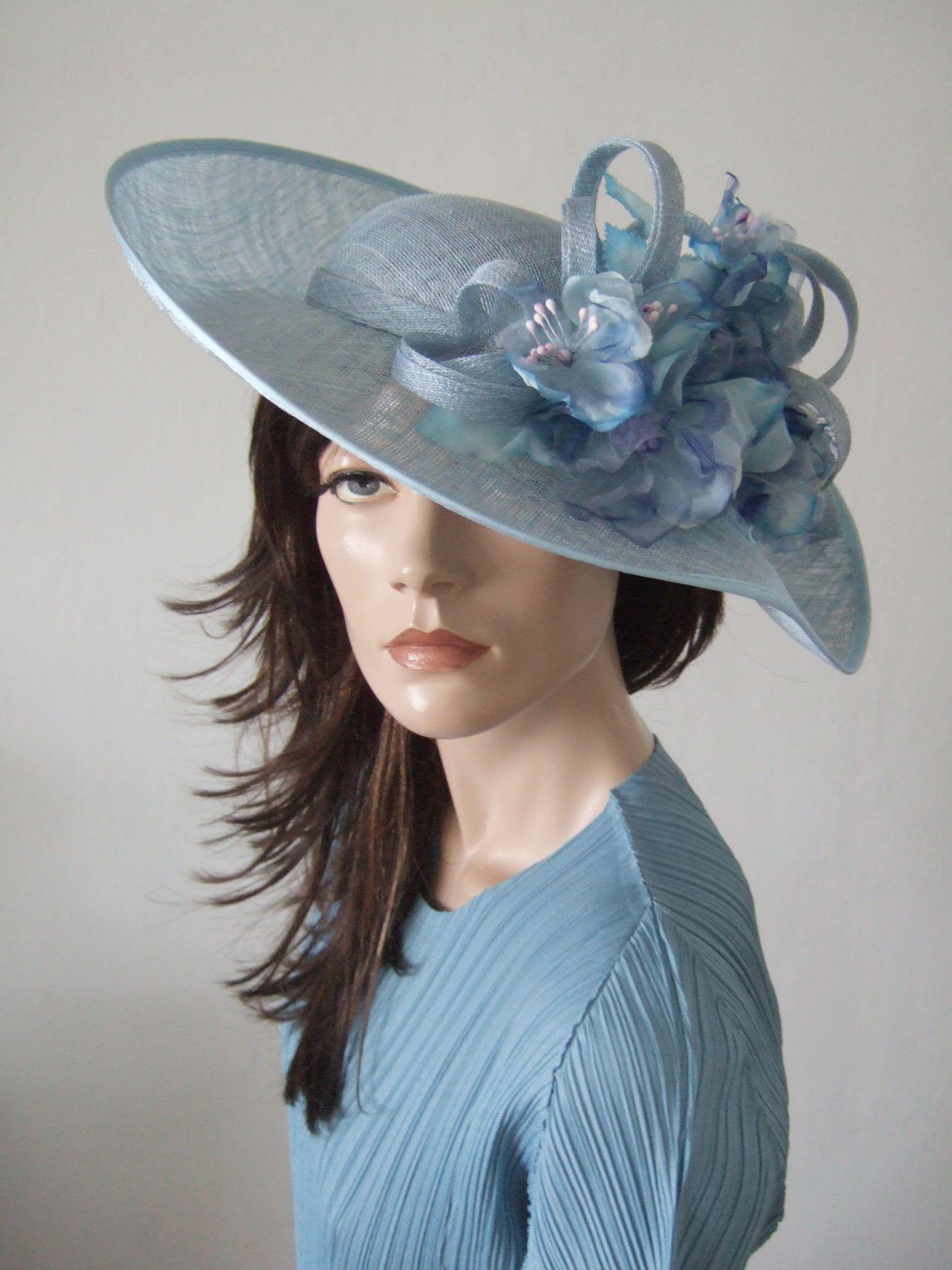 63f28bf7 Cornflower Blue Hat from Dress-2-Impress.com | Hats | Ascot hats ...
