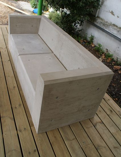 cool concrete benches gray concrete projects mobilya furniture pinterest