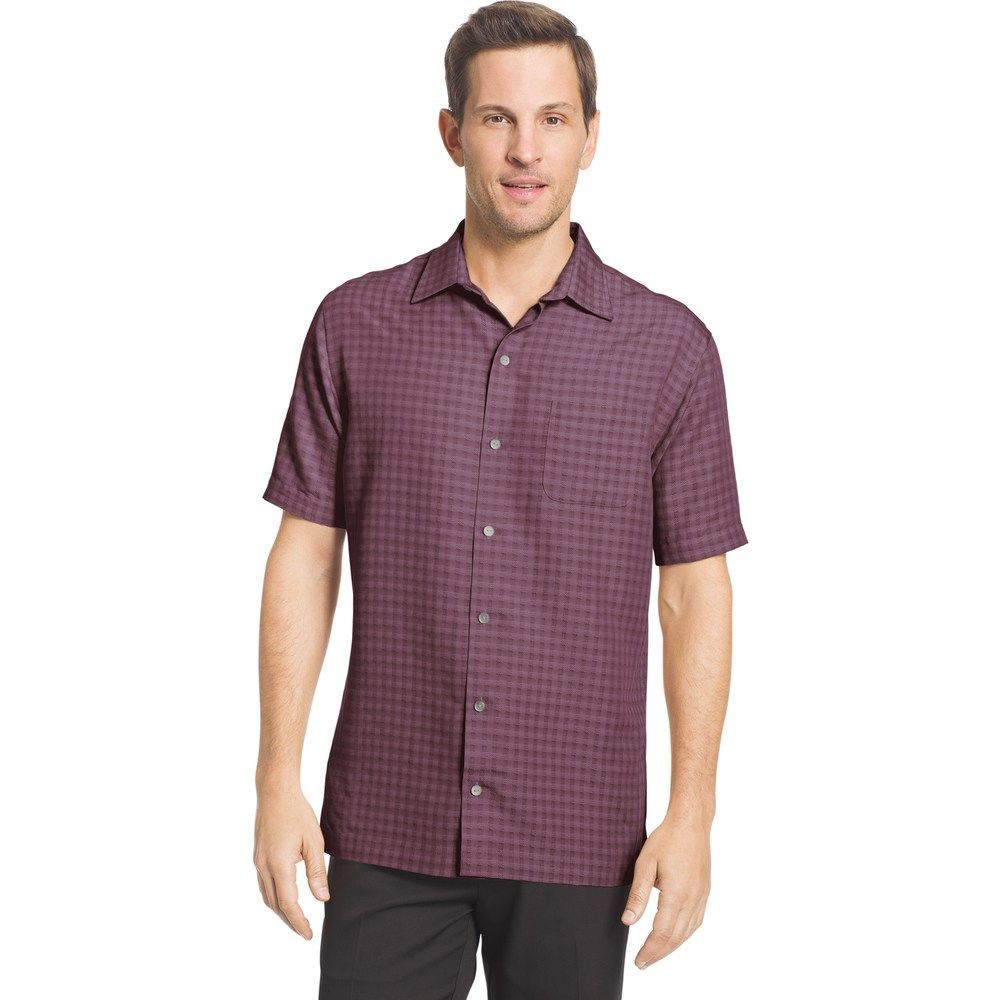 Men S Van Heusen Air Slim Fit Dobby Casual Button Down Shirt Button Down Shirt Printed Shirts Mens Tops