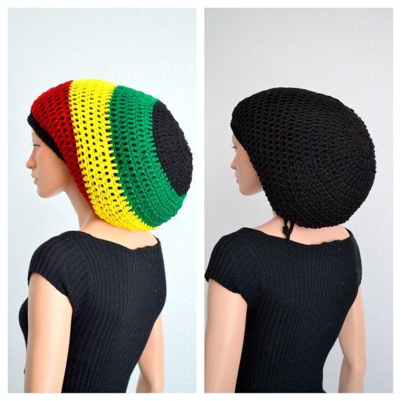 Set of 2 Crochet Rasta tams/ Crochet dread tams by Africancrab