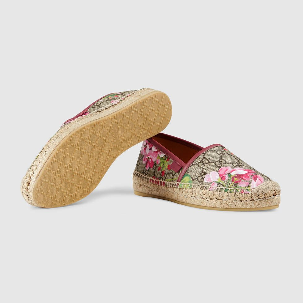 2e0ee458aa4 Shop the GG Blooms Supreme espadrille by Gucci. A platform espadrille in  our GG Blooms Supreme print.