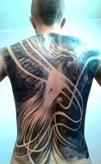 60 phoenix tattoo designs for men a 1 400 year old bird. Black Bedroom Furniture Sets. Home Design Ideas