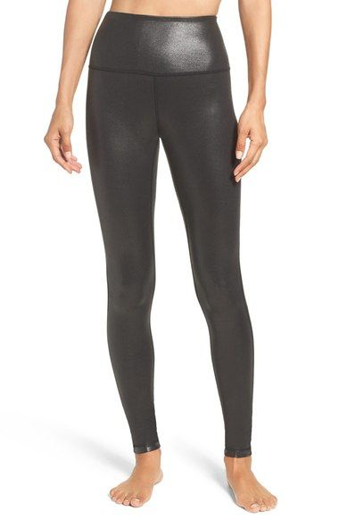 d4687d282241a5 Zella Live-In High Waist Leggings - black laminate - small (Online Only)  available at #Nordstrom