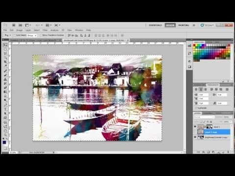 A Really Great Technique How To Create A Watercolor Effects In