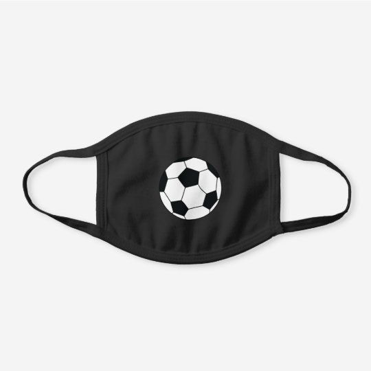 Sports Soccer Athletic Black Cotton Face Mask Zazzle Com In 2020 Sport Soccer Face Mask Soccer