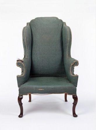 wing chair walnut english first half 17th century geffrye museum queen