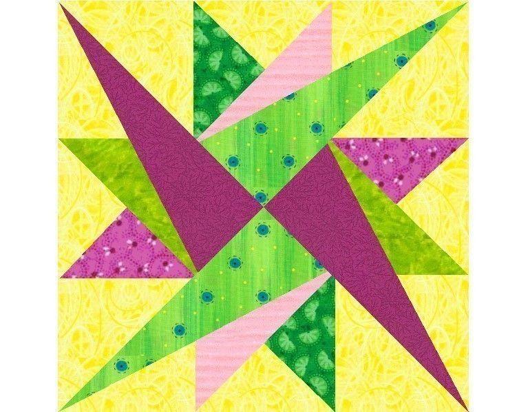 Leysin Star paper pieced quilt block pattern INSTANT DOWNLOAD PDF. $3.00, via Etsy.