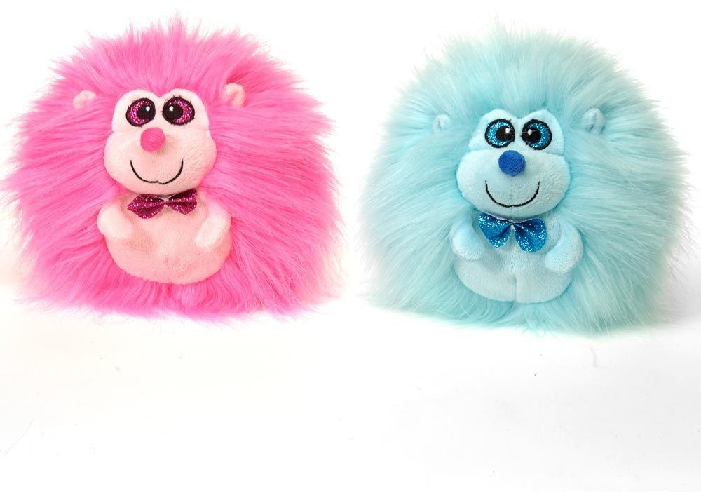 "6"" 2 assorted hairy hedgehogs - blue pink Case of 24"
