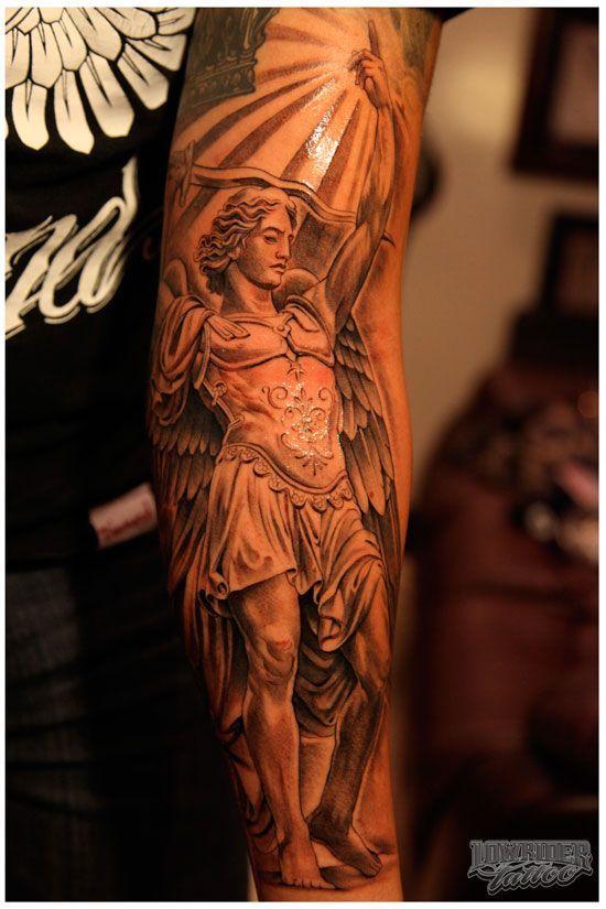 st michael color tattoos saint michael tattoos pinterest color tattoo saint michael and. Black Bedroom Furniture Sets. Home Design Ideas