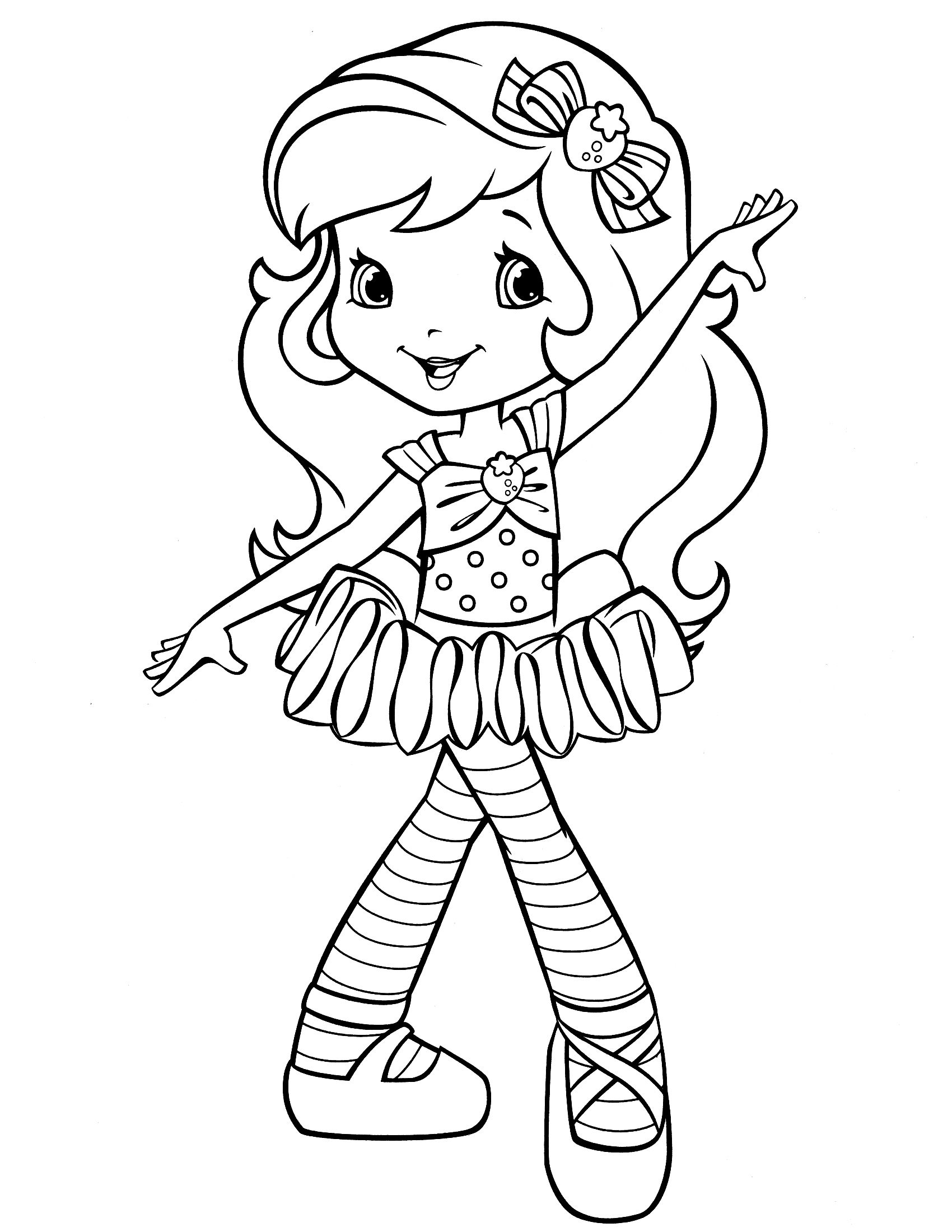strawberry shortcake coloring page … | Pinteres…