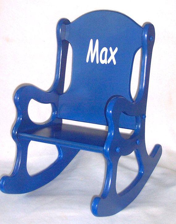 Children 39 S Rocking Chair Blue Rocking Chair Kids Rocking Chair Wooden Rocking Chairs