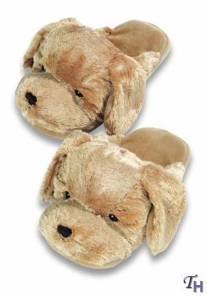 Silver Lilly Golden Retriever Slippers Plush Dog Slippers W