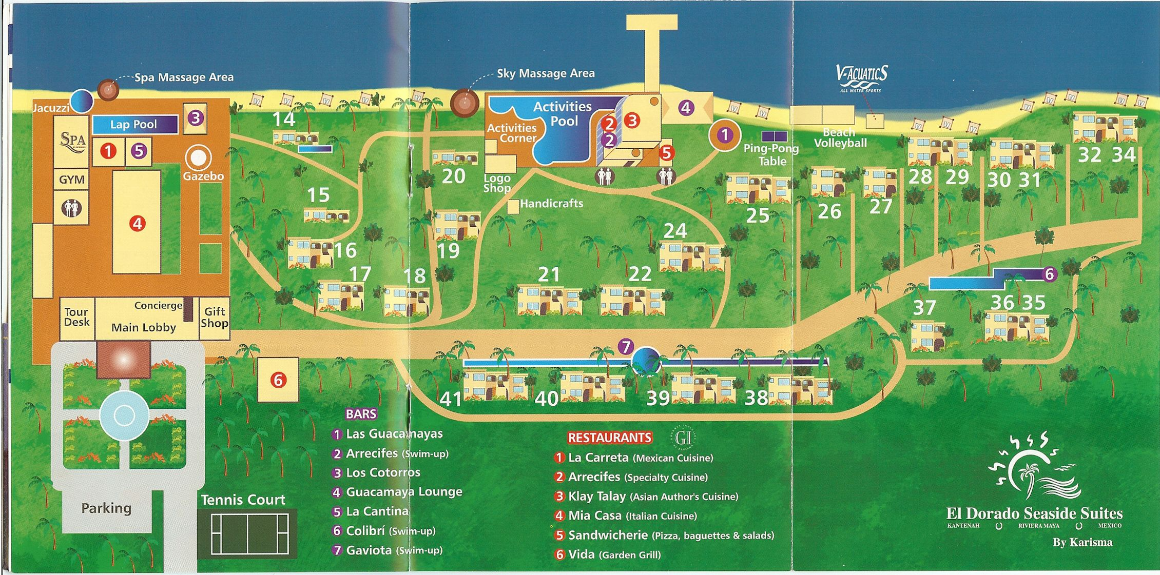 El Dorado Royale Resort Map Language Mexico Vacation