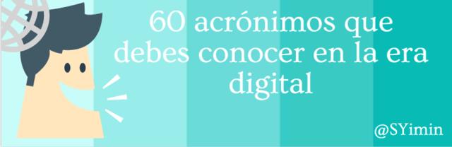 60 - acrónimos