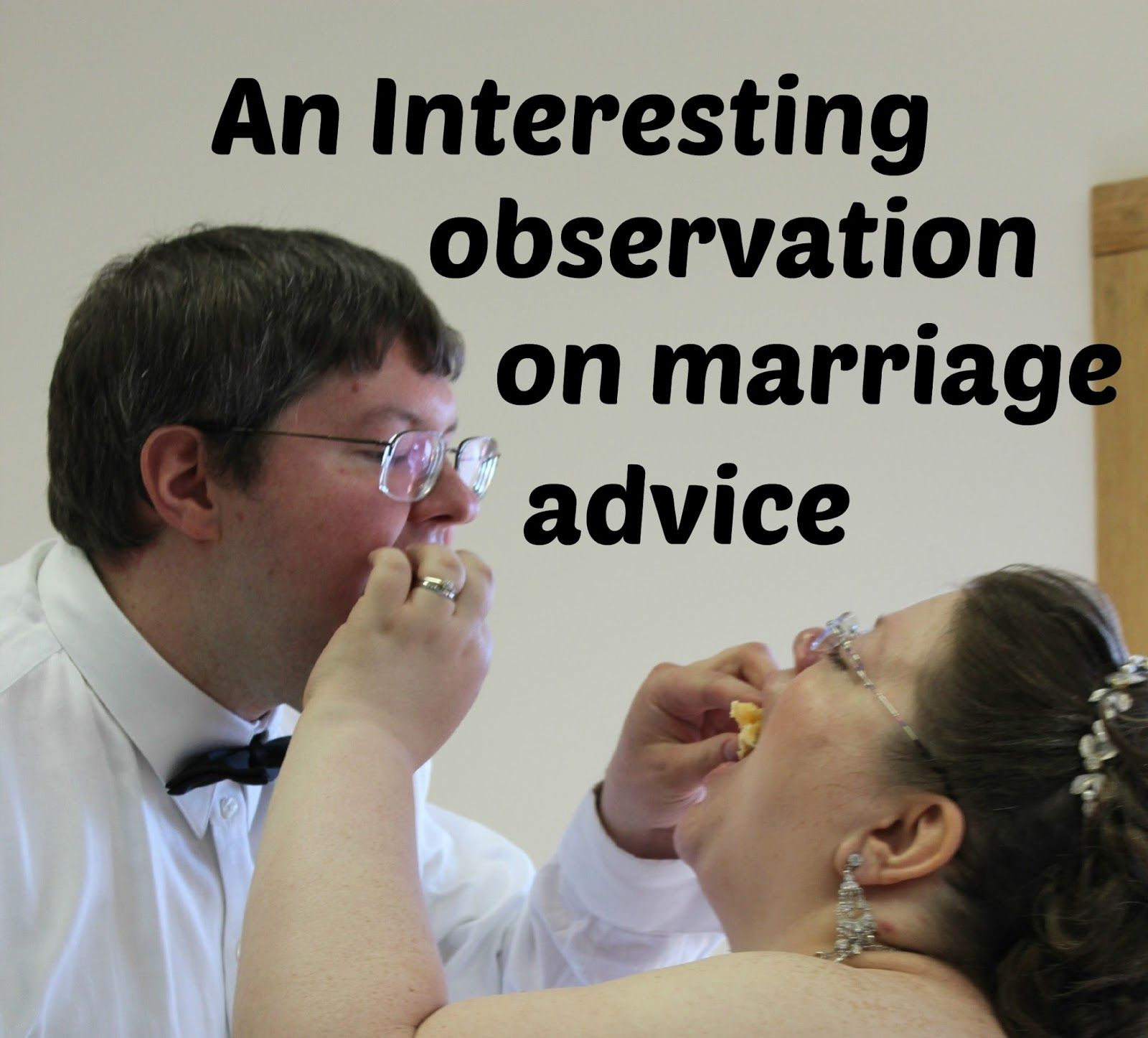 Books, Bargains, Blessings: An Interesting Observation on Marriage Advice