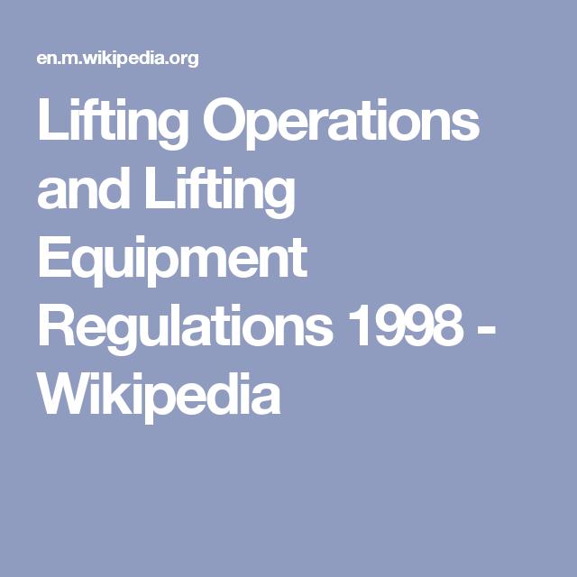 lifting operations and lifting equipment regulations 1998 rh pinterest co uk Manual Handling Poster Manual Handling Injuries