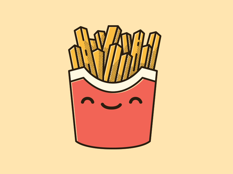 Happy Fries Fabric Paint Designs Fries Cute Food
