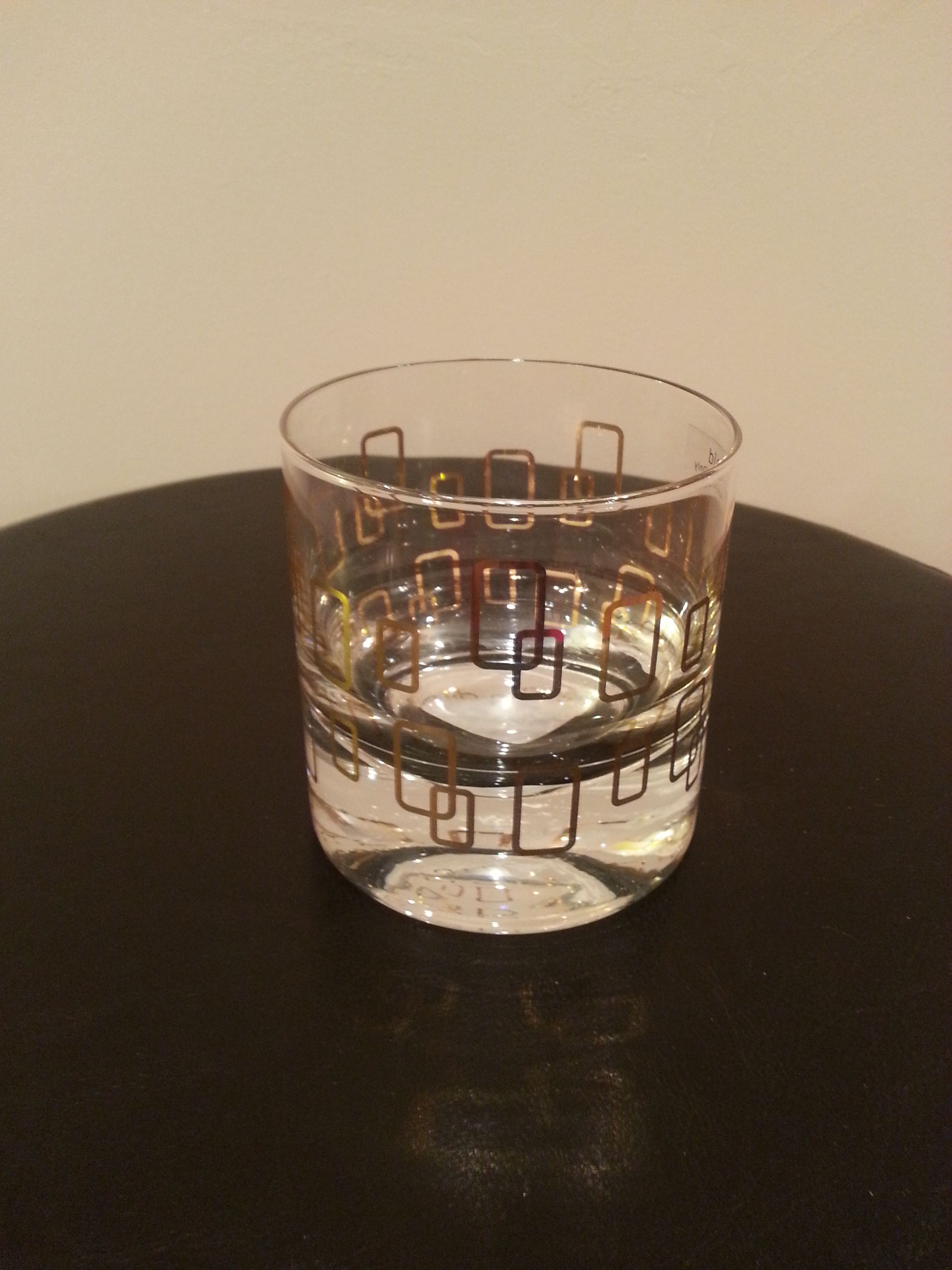 Item #11 - Gold Pattern Glass for Guest Table Decor (Hold Candle) from Home Goods