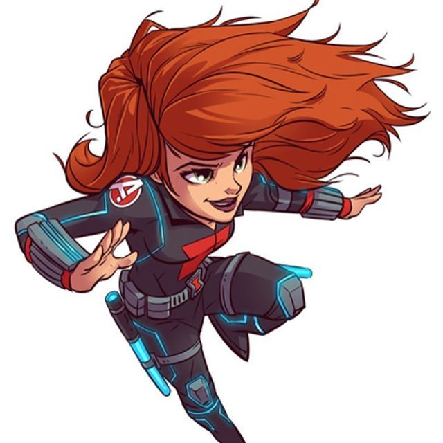 chibi black widow i designed for marvels new super hero