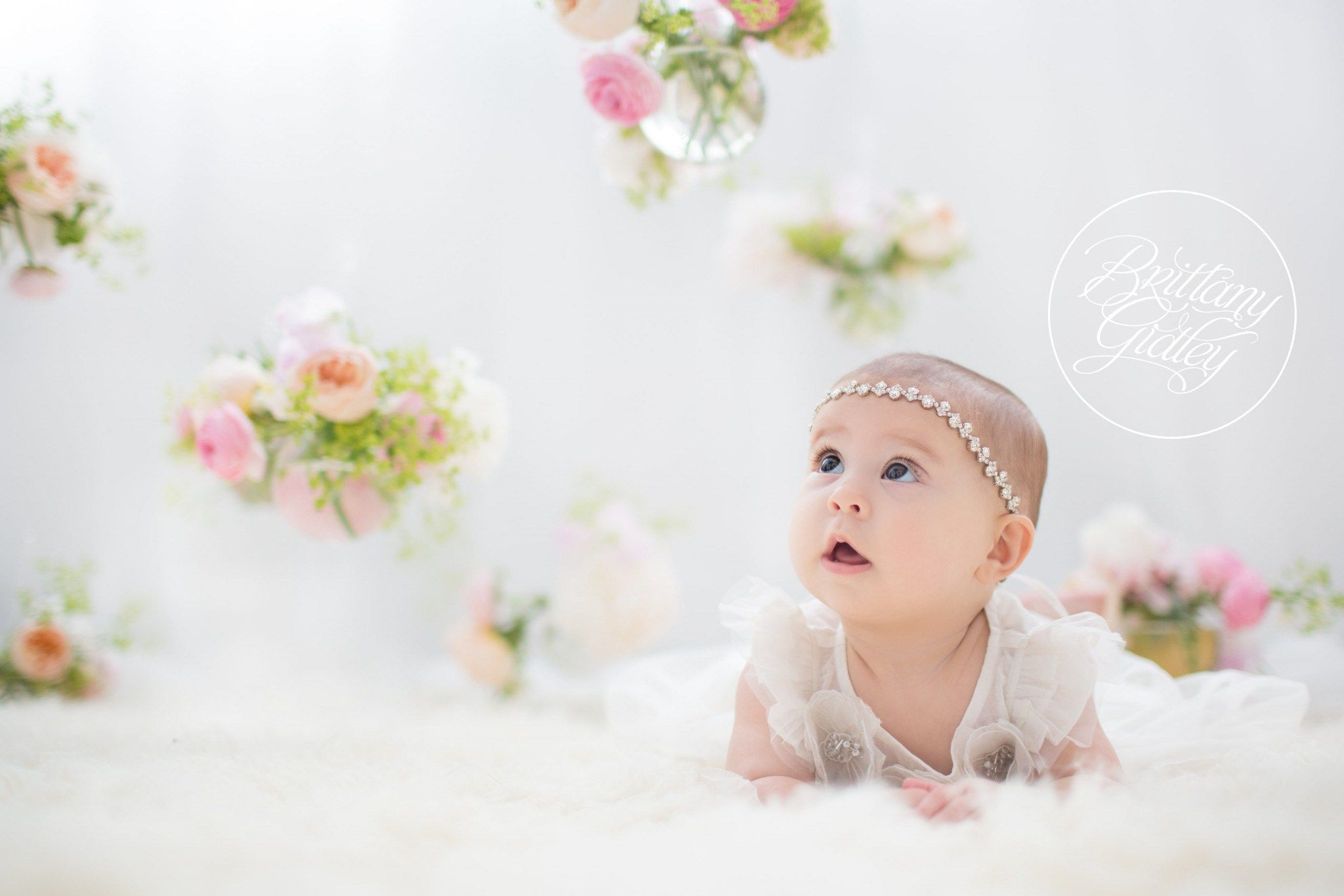 Hanging flowers cleveland ohio photo shoot 6 month baby start with the best brittany gidley photography llc clevelands best baby photographer