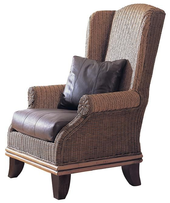 Isla Wingback Chair Wicker Lounge Rattan Armchair Indoor Furniture Homedecorators