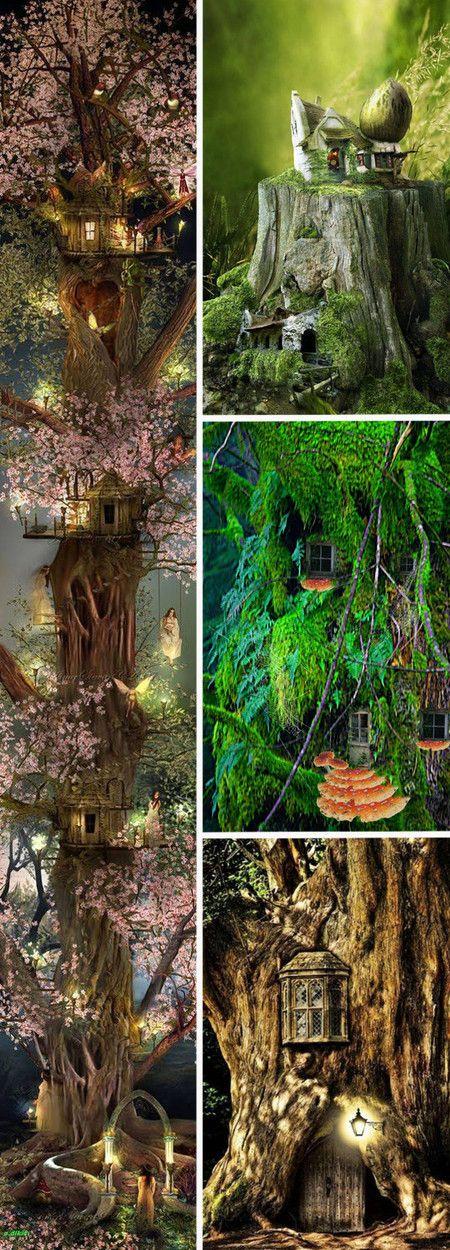 妖精の家 妖精の家 ツリーハウス 妖精の庭ガーデニング