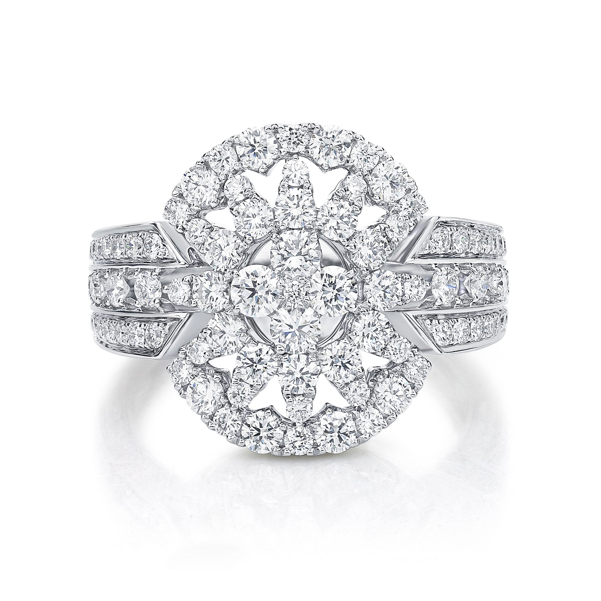 Stunning vintage style diamond dress ring by Diamonds