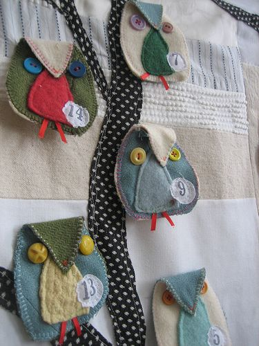 Owl Advent Calendar..uses lots of SCRAPS!!