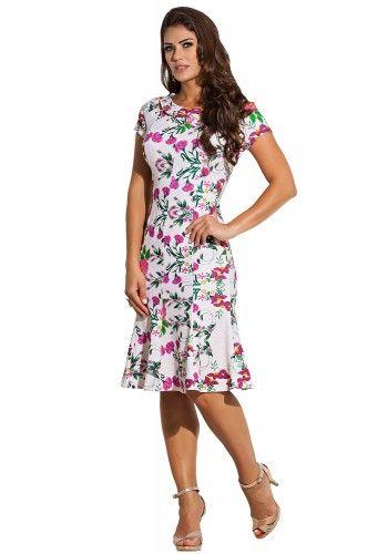 823a06fe23 vestido bege estampa floral e folhagem decote amarracao e ilhos kauly frente