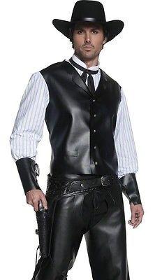 5dd04b1a266 Mens Western Gunslinger Cowboy Adult Halloween Costume Medium ...