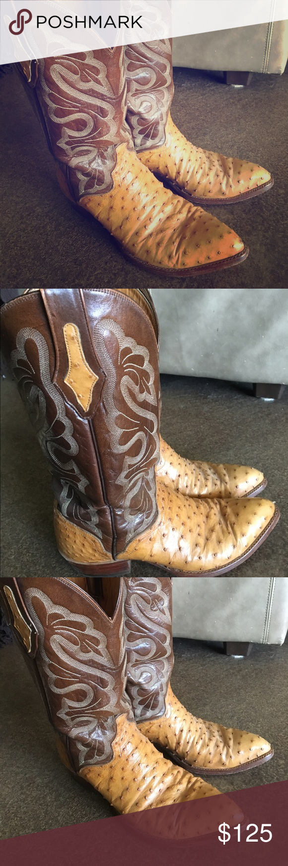 Mens Vintage El dorado ostrich skin boots Mens Vintage El dorado ostrich skin boots size 9 1/2 D in amazing condition. el dorado Shoes Boots