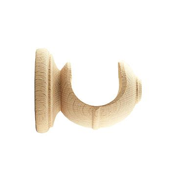 1 3 8 Ebro Short Unfinished Premium Wood Curtain Rod Brackets
