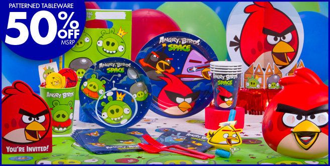 The Ultimate Angry Birds 6th Birthday Party Supplies and Balloon Decorations
