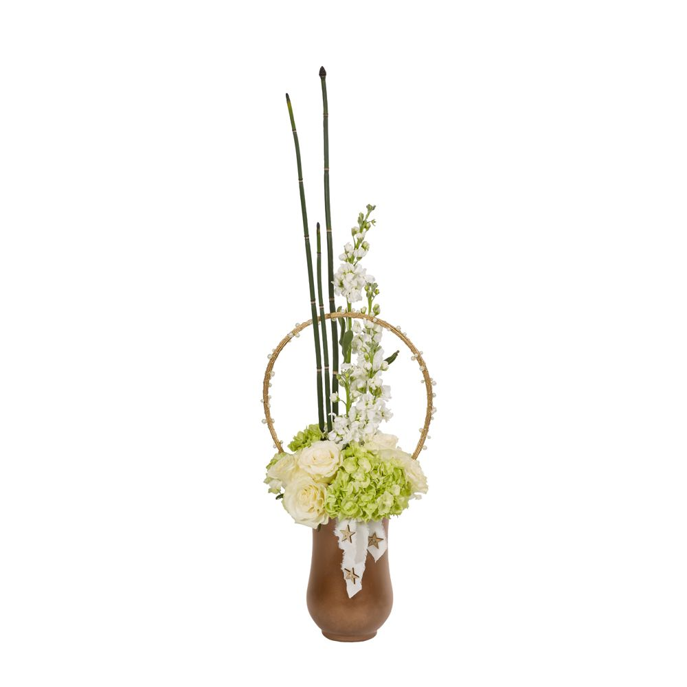 19bf42621b8e Accent your floral arrangement with OASIS Holiday Raw Muslin and Glitter  Midollino Sticks.