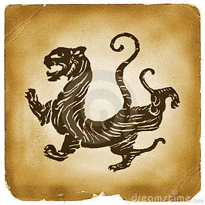 Ancient Chinese Tiger Graphical Symbol Animalnature Art And