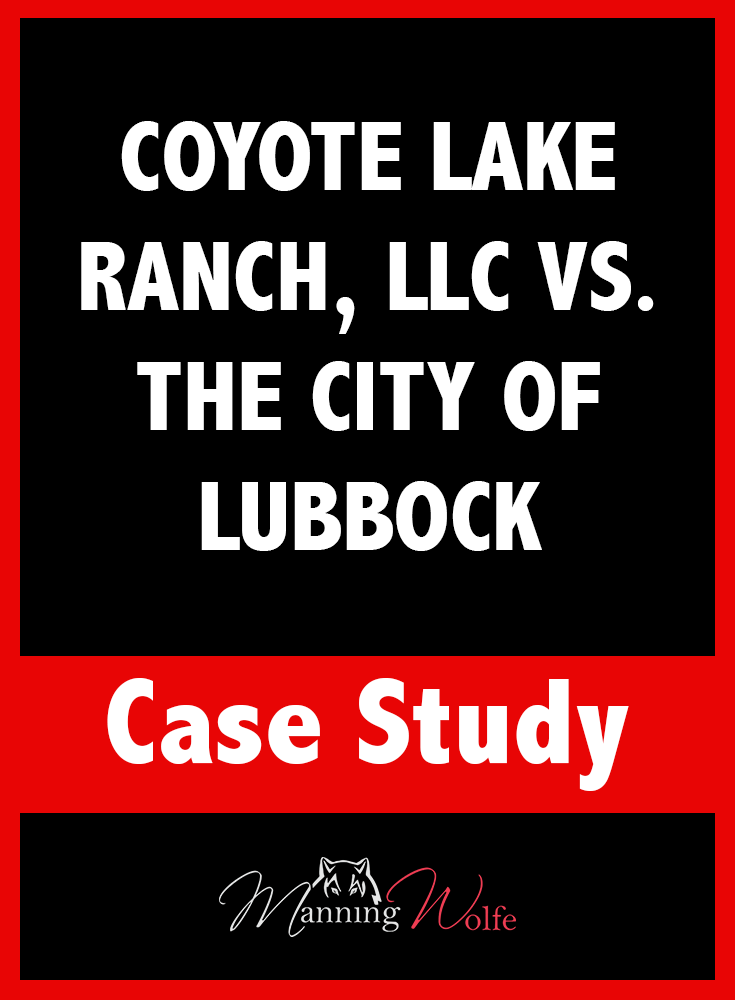 The Texas Supreme Court Ruled In Favor Of A Muleshoe Ranch In Its Battle With The City Of Lubbock Over Water Rights In A 6 3 Ruling In Lubbock Case Study City