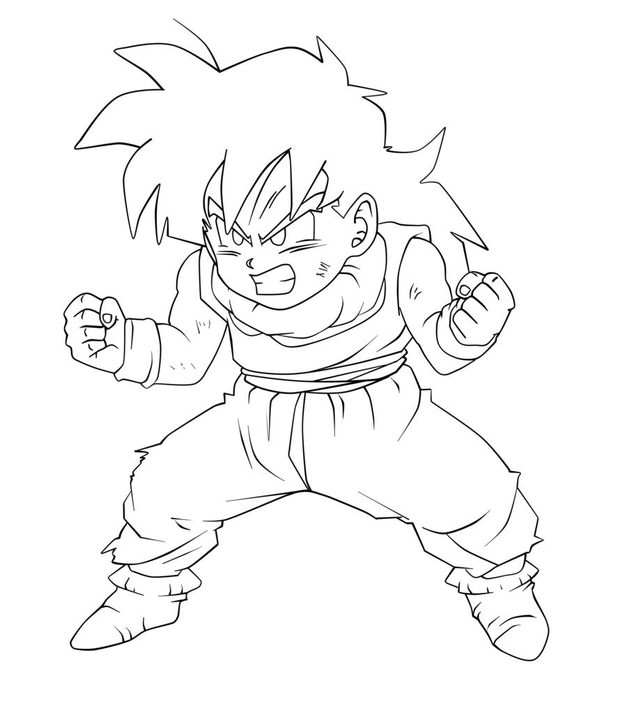 Kid Gohan Dragon, Dragon ball z, Art