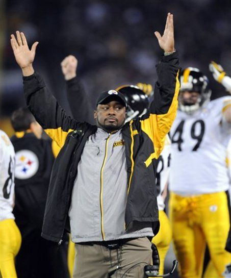 Antonio Brown records and posts Mike Tomlin's postgame.