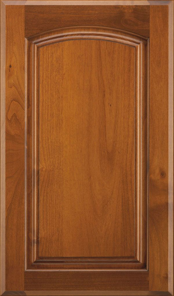 Verona Alder Arched Raised Panel Cabinet Door In Sienna Coffee