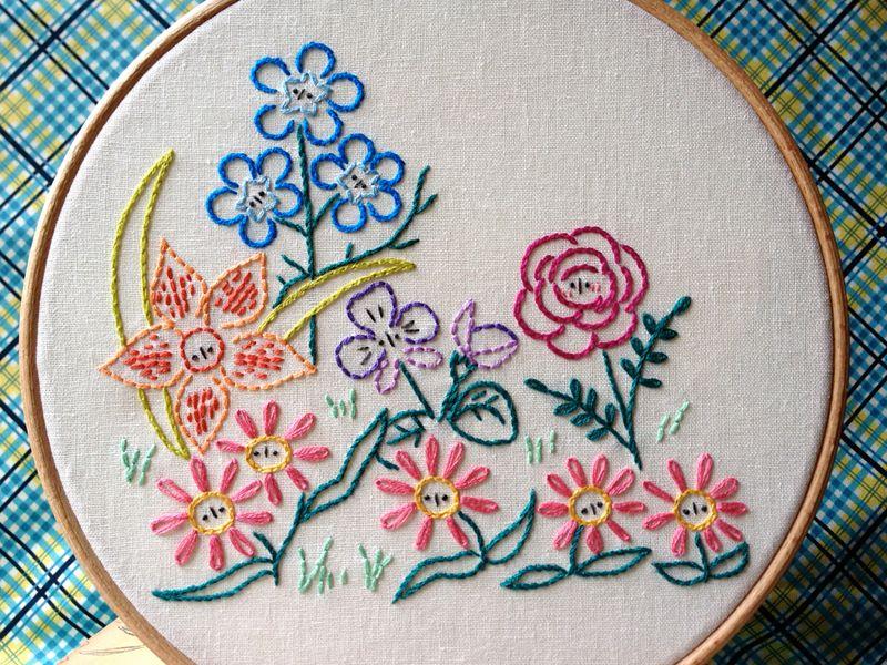 Alice\'s Garden Embroidery Pattern   Bordado, Dibujos para bordar y ...
