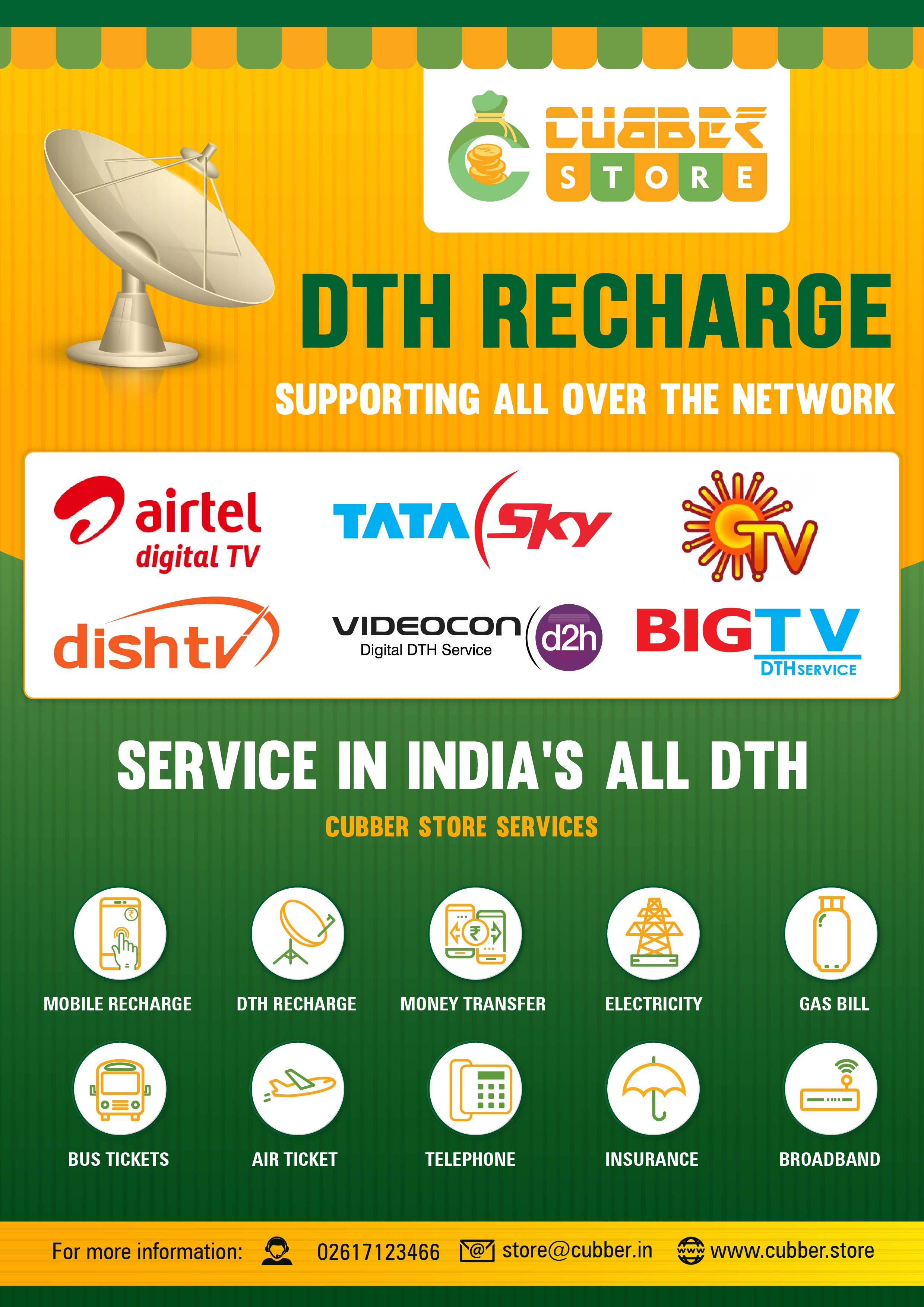 Online Mobile and DTH Recharge business For Retailers and