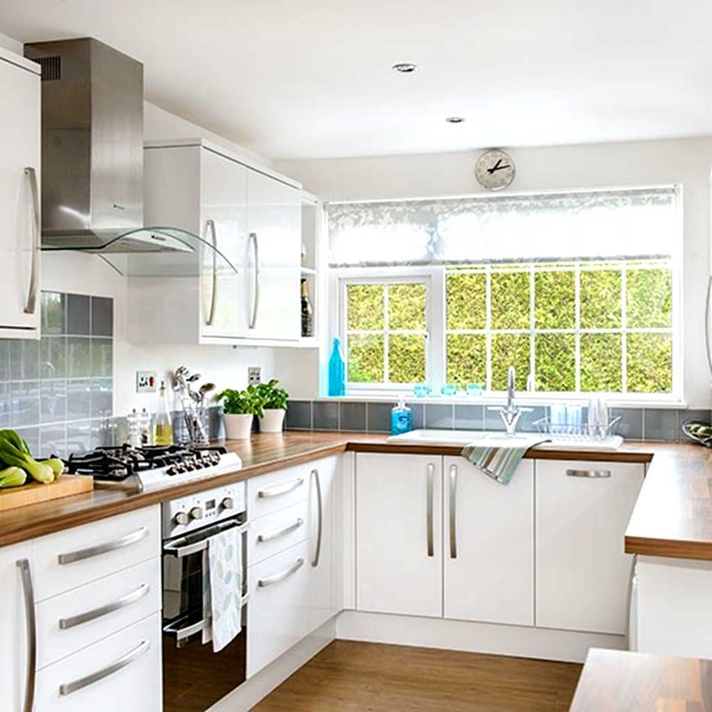 White U Shaped Kitchen Designs