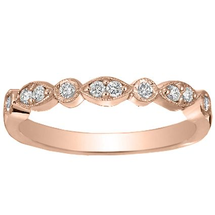 14K Rose Gold Tiara Diamond Ring From Brilliant Earth Would Make A Pretty Wedding Band